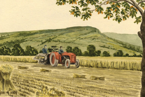 Allan Furniss, Harvest, Strathtay, Aberfeldy -Original 1945 watercolour painting