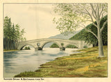 Allan Furniss, Kenmore Bridge & Ben Lawers Loch Tay - 1940s watercolour painting
