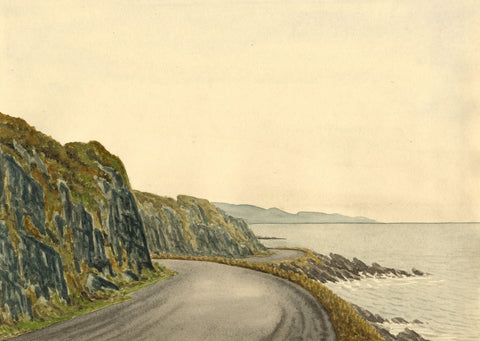 Allan Furniss, Sea View, Ballantrae Road - Original 1940s watercolour painting