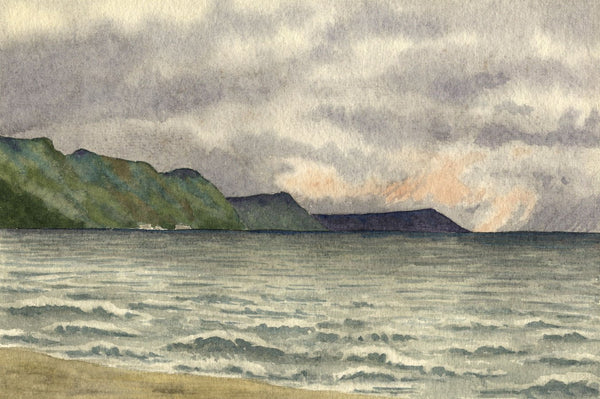 Allan Furniss, Storm Brewing, Girvan, Scotland - 1940s watercolour painting