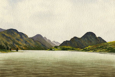 Allan Furniss, Loch Lomond & Ben Lomond, Scotland - 1945 watercolour painting
