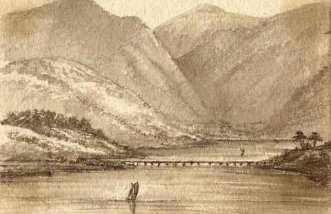 C.A. Collis, River Dovey, near Glandovey - mid-19th-century watercolour painting