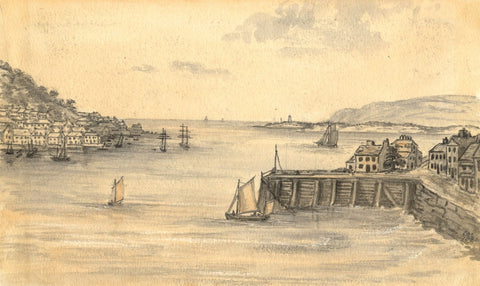 C.A. Collis, Torridge Estuary Appledore & Instow - Mid-19th-century watercolour