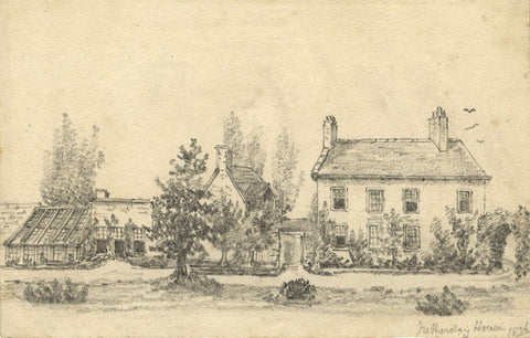 C.A. Collis, Netherclay House, Bishop's Hull, Taunton - 1856 graphite drawing