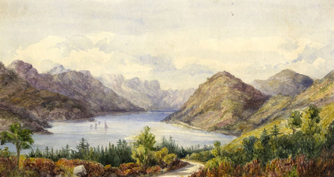 Loch Long, Garelochhead - Original mid-19th-century watercolour painting