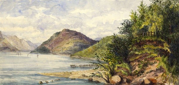 Loch Long, Scotland - Original mid-19th-century watercolour painting