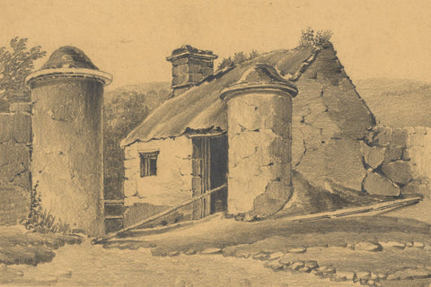 Miss Leywater, Watch House near Falls of Kilmorack - 1847 graphite drawing