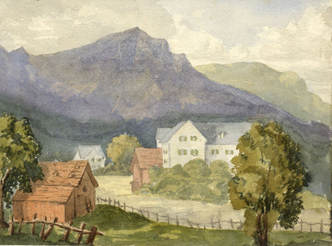Dashwood, Grindelwald, Switzerland - Original 1880s watercolour painting