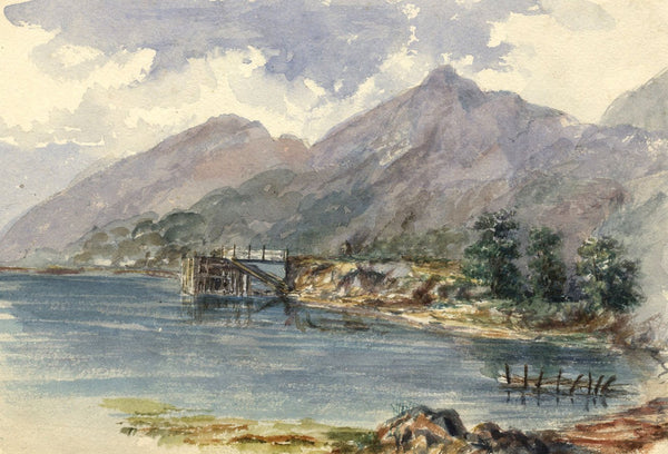 S.A. Cowan, View of Loch Lomond -Original late 19th-century watercolour painting