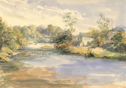 A.C. Cowan, The River Doon - Original late 19th-century watercolour painting