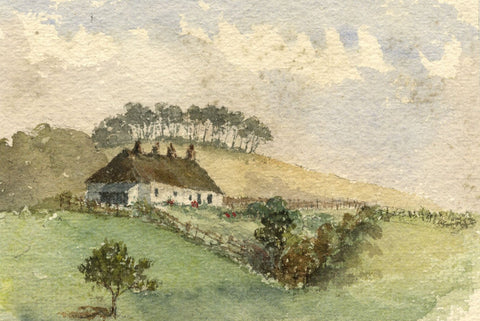 E.E. Cowan, Chapelpark Cottage near Ayr - Late 19th-century watercolour painting