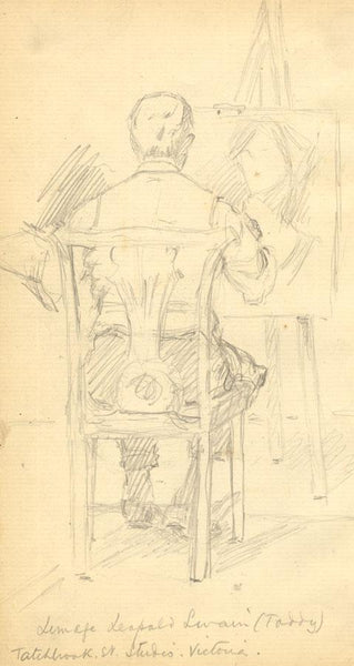 Kenneth E. Wootton, Lemage Leopold Swain Painting - c.1910 graphite drawing