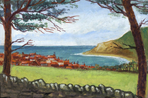 Victor Papworth, Robin Hood Bay, Yorkshire - Original 1970 gouache painting