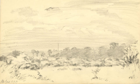 W.J. Lawrence, Glebelands, Finchley Common - Original 1939 graphite drawing