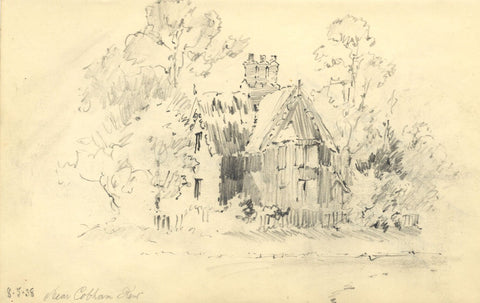 W.J. Lawrence, Thatched Cottage, Near Cobham, Kent - 1938 graphite drawing