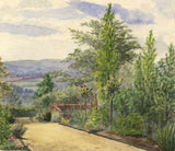 E.H. Hussey, Kitchen Garden, Court Hayes House, Oxted -1896 watercolour painting