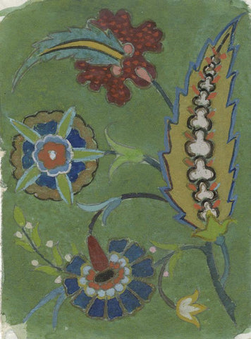 Ellen M. Murray Thomson, Arts & Crafts Floral Design -1910s watercolour painting