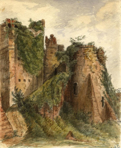 C.A. Collis, Goodrich Castle, Monmouth Wales - Original 19th-century Watercolour