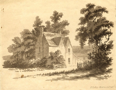 Francis Jukes, House amongst Trees - Original early 19th-century aquatint print
