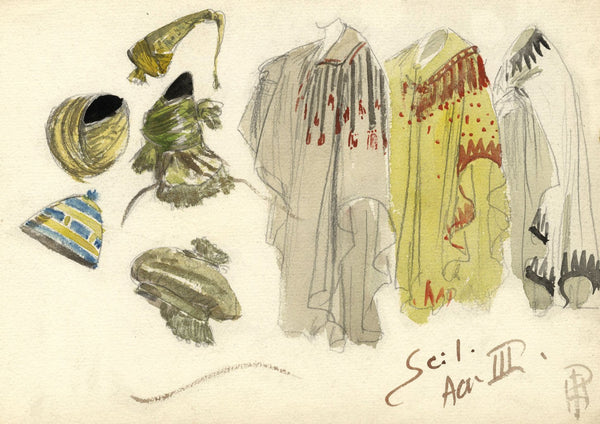 Percy Anderson, Costume Design for 'Cairo' 1921: Cloaks, Oscar Asche as Ali Shar