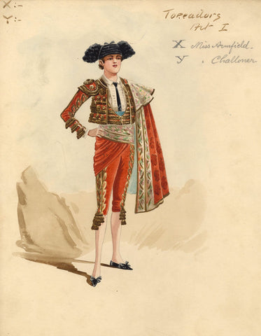 Attilio Comelli, Original Costume Design for 'Carmen' 1903: Spanish Toreador