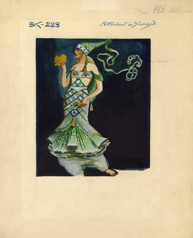 Percy Anderson, Original Costume Design for 'Cairo' 1921: Lady of the Harem
