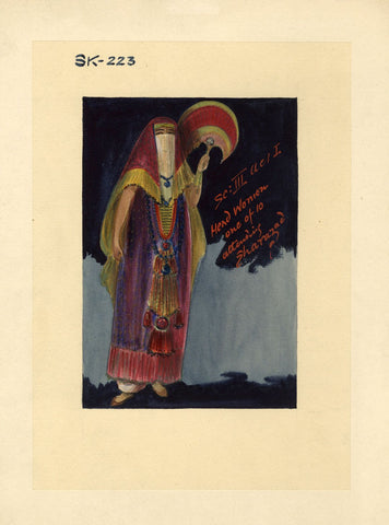 Percy Anderson, Original Costume Design for 'Cairo' 1921 Head Woman of the Harem