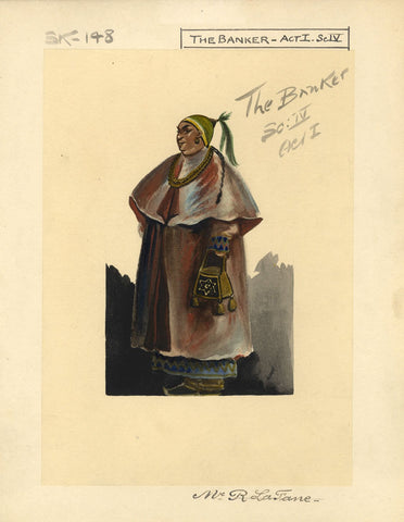 Percy Anderson, Original Theatre Costume Design for 'Cairo' 1921: The Banker