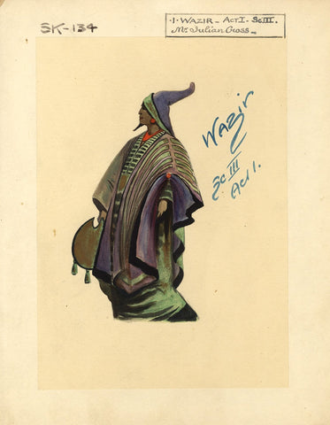 Percy Anderson, Original Costume Design for 'Cairo' 1921: Wazir Abu Shama