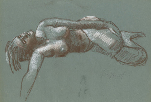 Sidney Horne Shepherd, Reclining Female Nude - Mid-20th-century chalk drawing