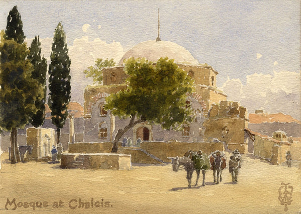 Sir Edgar Thomas Wigram, Emir Zade Mosque Chalcis Greece-Early C20th watercolour