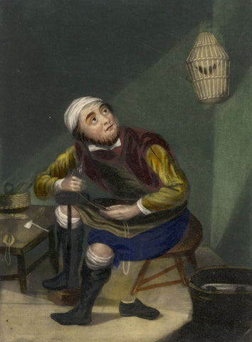 Cobbler after Adriaen van Ostade - Original mid-19th-century mezzotint print