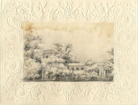 St Peter & St Paul's Church, Great Missenden - Mid-19th-century graphite drawing