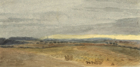 Attrib. Henry Hawkins RA, Reculver near Margate, Kent - 19th-century watercolour
