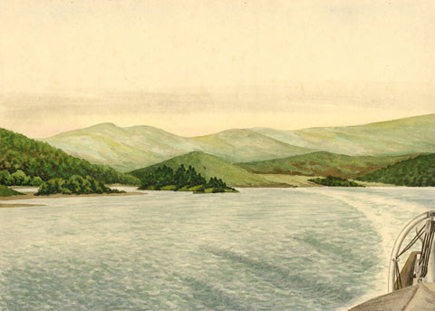 Allan Furniss, The Kyles of Bute - Original 1939 watercolour painting