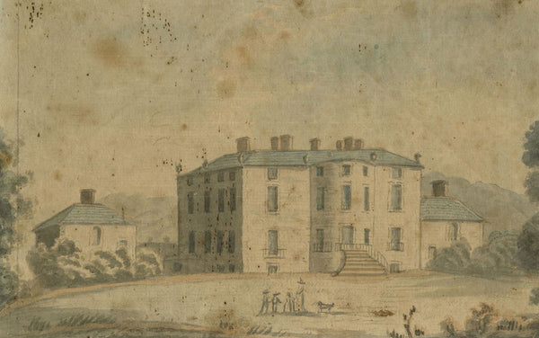 Alexander Reid of Kirkennan, Munches Old Mansion House - c.1797 watercolour