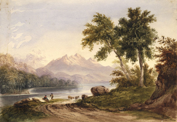 Glen Lochay, Perthshire - Original mid-19th-century watercolour painting