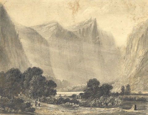 Alfred Swaine Taylor, Brienzer Rothorn, Switzerland - 1829 graphite drawing