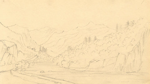 Alfred Swaine Taylor, Borrowdale Pike o'Stickle, Lake District - 1833 drawing