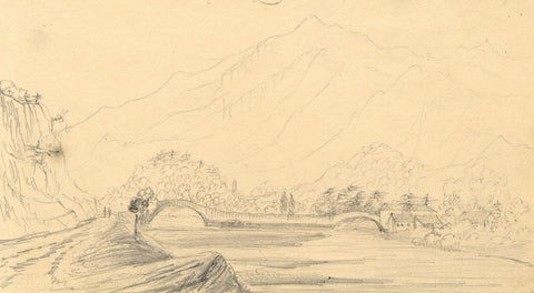 Alfred Swaine Taylor, Grange & Castle Crag Borrowdale Lake District 1833 drawing