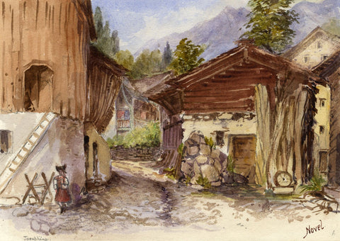 F. Matthews, Chalet, Novel, Auvergne-Rhône-Alpes, France - 1898 watercolour