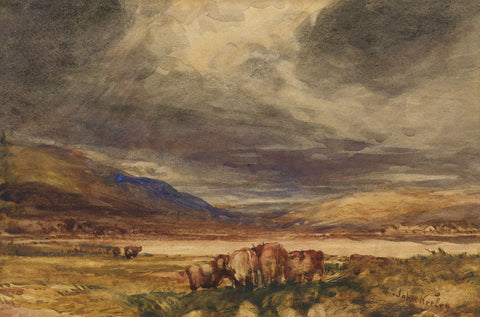 John Keeley RBSA, Stormy Weather, Cumberland - Late 19th-century watercolour