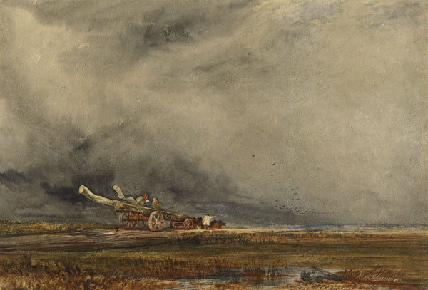 John Keeley RBSA, The Timber Cart after Peter De Wint - 19th-century watercolour