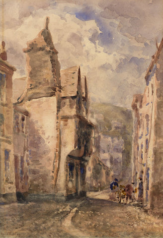 John Keeley RBSA, East Looe, Cornwall - Late 19th-century watercolour painting