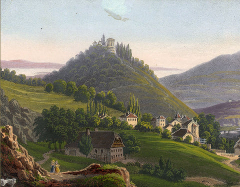Souvenir de la Suisse, View in Switzerland - Mid-19th-century lithograph print