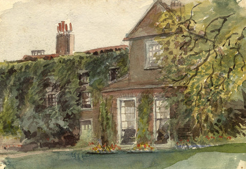 M. Conway, Bishop Fisher's Palace, Rochester -Original 1895 watercolour painting