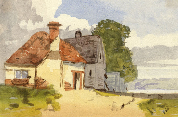 Gertrude Robinson, Rural Cottage - Original 1875 watercolour painting