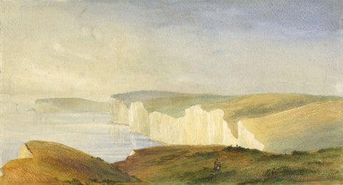 White Cliffs of Dover - Original late 19th-century watercolour painting