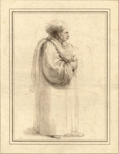 After Leonardo da Vinci, Caricature of a Lawyer or Academic - 1806 etching print