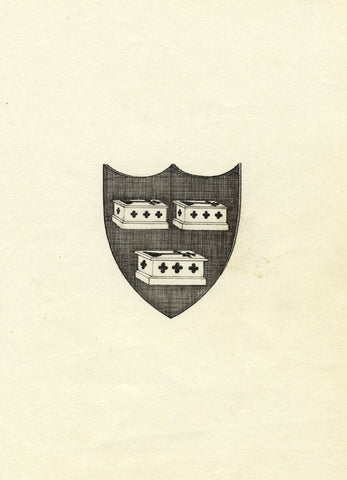 M.S. Smith, Robert Fisher Tomes Long Marston Coat of Arms - c.1870 ink drawing